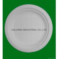 Buy cheap Bleached Bagasse Pulp Round Plate from wholesalers