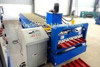 Quality Chromadeck Roofing Sheet Roll Forming Machine Length Adjustable Hydraulic Cutting System for sale