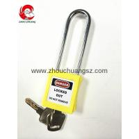 Buy cheap ZC-G21 Yellow ABS / Stainless Steel / Nylon Xenoy Safety Padlock product