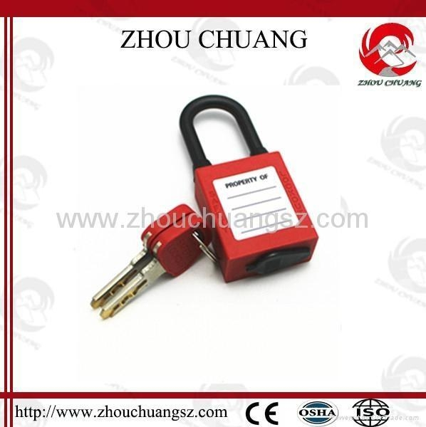 Quality ZC-G15 Nylon Short Shackle Dust-proof ABS Safety Padlock for sale