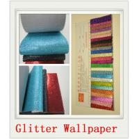Custom White Glitter PU Wallpapers Manufactures