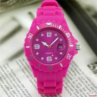 High quality silicone wristband watch with calendar