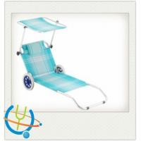 Buy quality Aluminum Tube beach chair/recliners/Folding chairs with canvas awning at wholesale prices