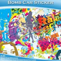 A-30 Graffiti Vinyl Car Wrapping Bomb Stickers