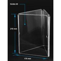 Buy cheap Acrylic Table Tent Clear acrylic A5 menu holder with three sides product