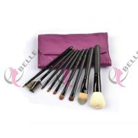 TB-9-28 Goat Hair 9pcs makeup brush set with case purple