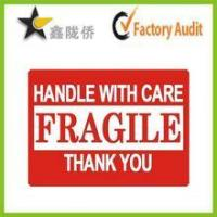 Buy cheap Fragile adhesive sticker label /Carton label product