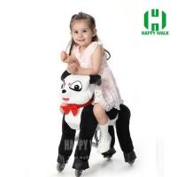 Panda Pony Walking Animal plush ride on horse toy