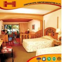Buy cheap OEM outsourcing Standard Room solid wood mirrored model hotel furniture bedroom product