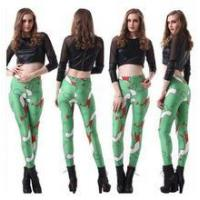 Latest fashion digital bodycon leggings Ltaly flag printed leggings for women Manufactures