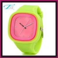 2016 silicone jelly watches no logo with interchangeable band and big face for teens Top selling