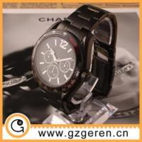 Stainless steel watches 2015 OEM watches men stainless steel chain black color wrist watch Manufactures