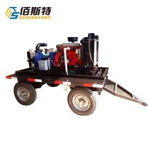 China Trailer / Portable Diesel Water Pump for Sludge or Irrigation Farm