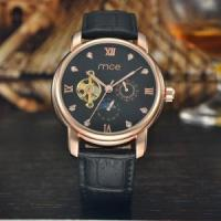 Buy cheap custom automatic chinese mechanical movement leather mens watch product