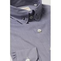 Buy cheap Pin Collar Shirt Navy Check product
