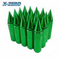 90mm Blue Extended Spike Lug Nuts , Race Car Parts For Wheels Tyre 12X1.5MM