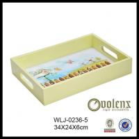 Most popular High End Factory Price Handmade Yellowish Color Custom Wooden Tray Manufactures