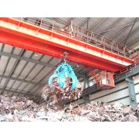 China Double workstation crane with grab for marble factory on sale