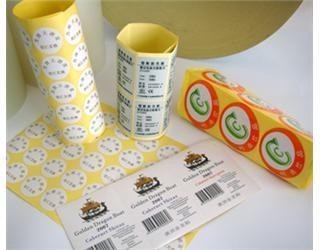 Quality XMT-C078 print custom shape adhesive sticker for sale