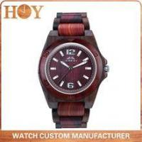 China supplier hot sale fashion popular nature ebony and Red sandalwood men's watch