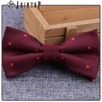 Buy cheap stock low moq 10 extra long burgundy bow tie product