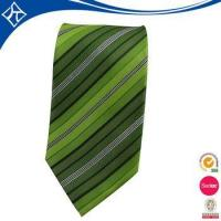 Buy cheap high quality custom color green stripe tie product