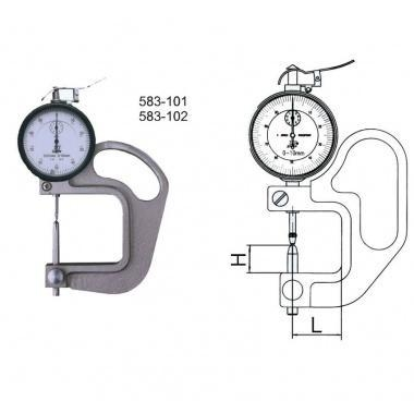 Quality Dial Thickness Gauges With Globular Inserts for sale