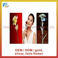 China Model Name.:Gold foil / silver foil / rose, carnation flower on sale