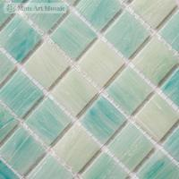 China Light blue glass tiles for swimming pool SP020 on sale