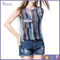 Buy cheap Chiffon Blouse Designs, Wholesale African Blouses, Sleeveless Lady Blouse product