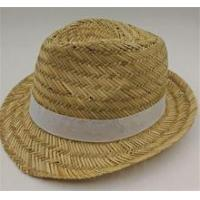 Buy cheap High Quality Gentleman Straw Fedora Hat product