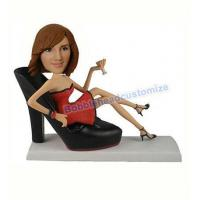 Sexy women with shoe bobblehead