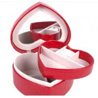 red leather jewelry box Jewelry Case THD-06