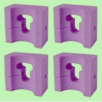 Buy cheap 4 MedLine Adult-Size Foam Supportive HEAD POSITIONER 9x8x4.5 / NON081144 product