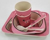 China Bamboo Fiber 5pieces Printed children dinner set/dinner ware on sale