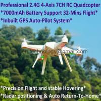 Buy cheap 2.4G 7CH Predator RC Quadcopter Drone 32-mins Flight Inbuilt GPS One-Key Return from wholesalers