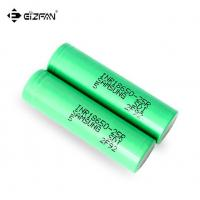 Buy cheap Samsung INR 25R 18650 battery with 2500mAh 20A continuous dicharge current for vape and battery pack from wholesalers
