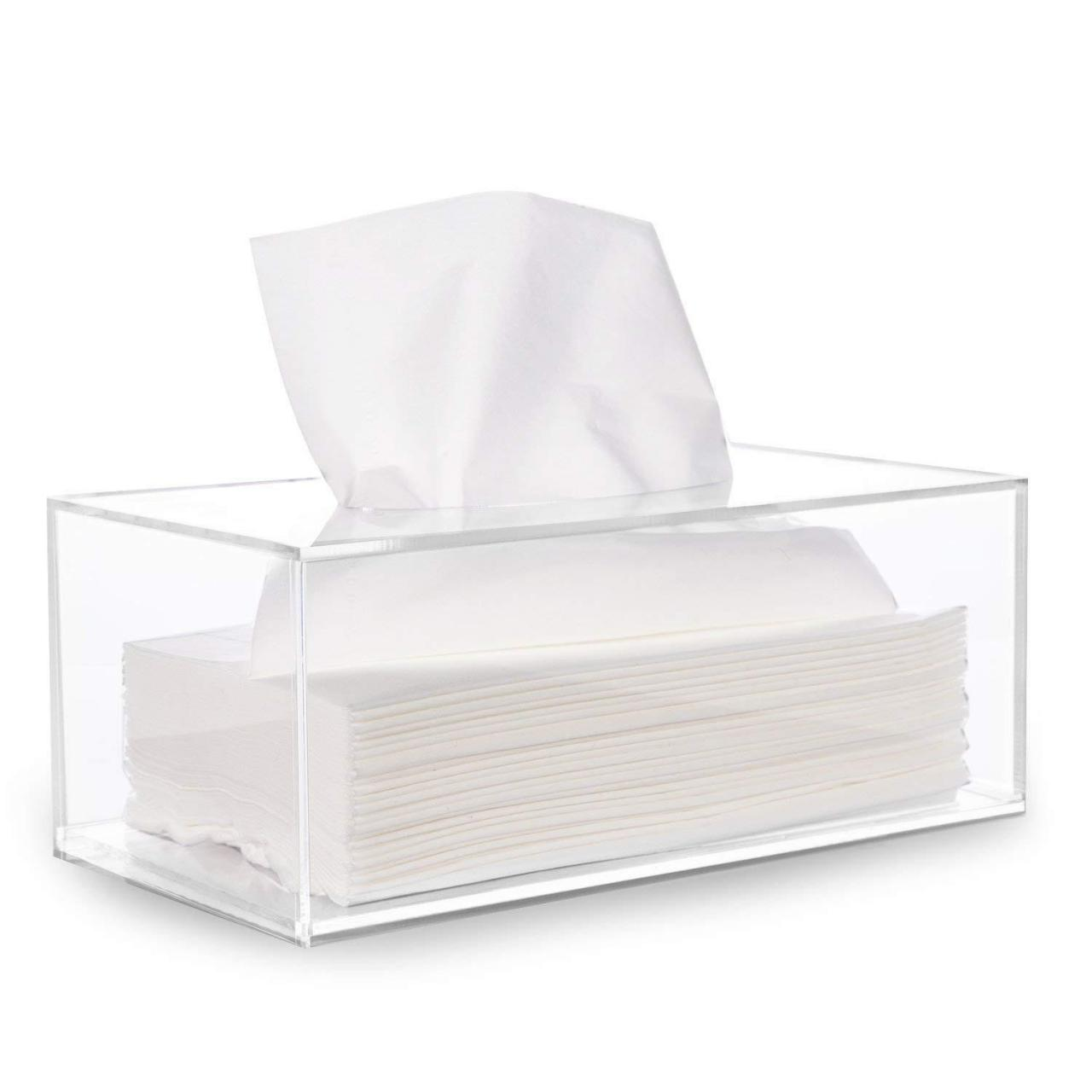 Buy cheap Acrylic Tissue Dispenser Box Storage Case Cover Container from wholesalers