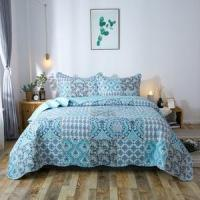 Buy cheap Kasentex Country-Chic Printed Pre-Washed Quilt Set. Microfiber. Airy Blue from wholesalers