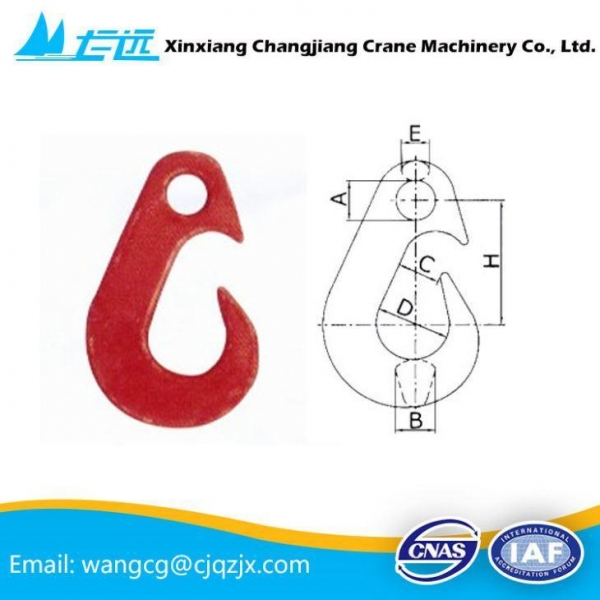Quality High strength small eye lifting hook for sale